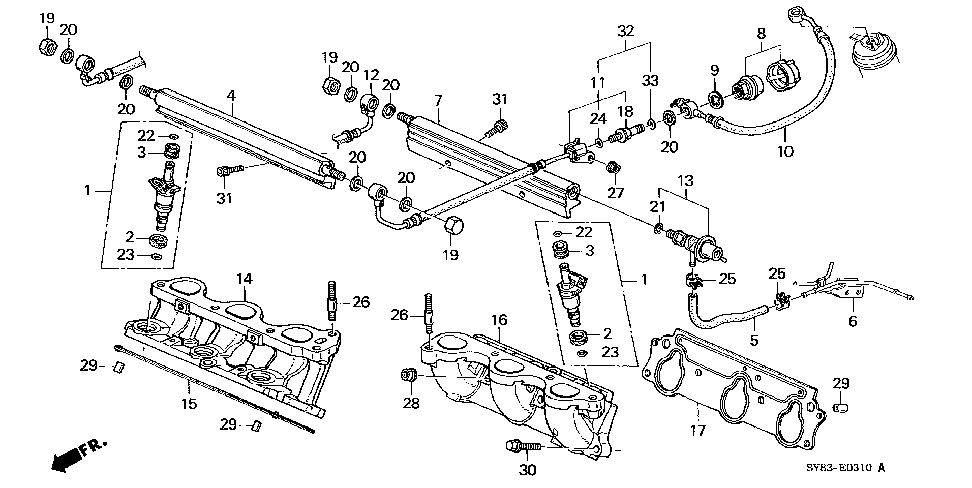 16610-P8A-A00 - PIPE, FR. FUEL