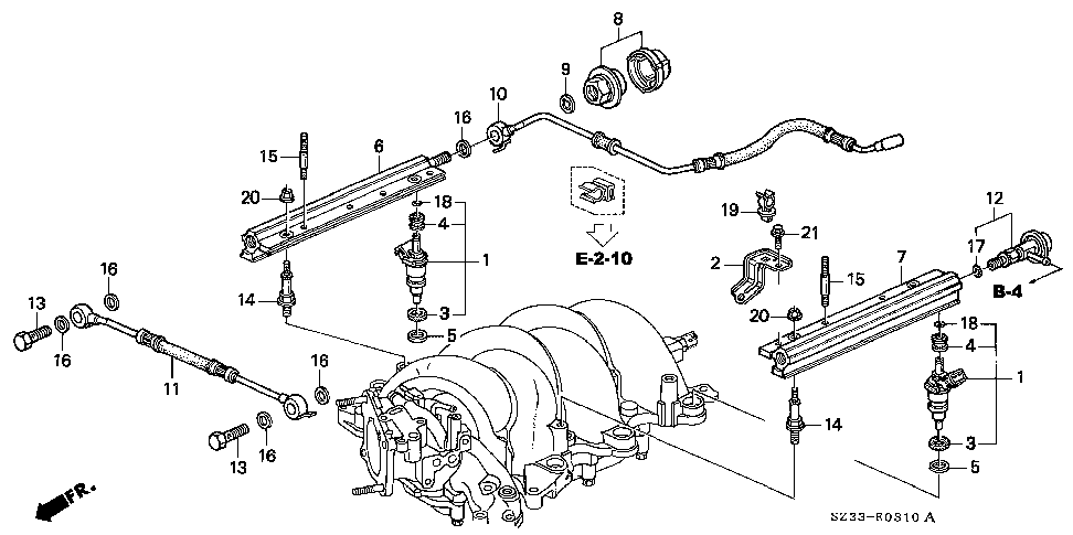 16610-P5A-A00 - PIPE, R. FUEL