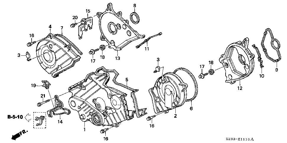 19506-P5A-000 - STAY, HOSE CLAMP (LOWER)
