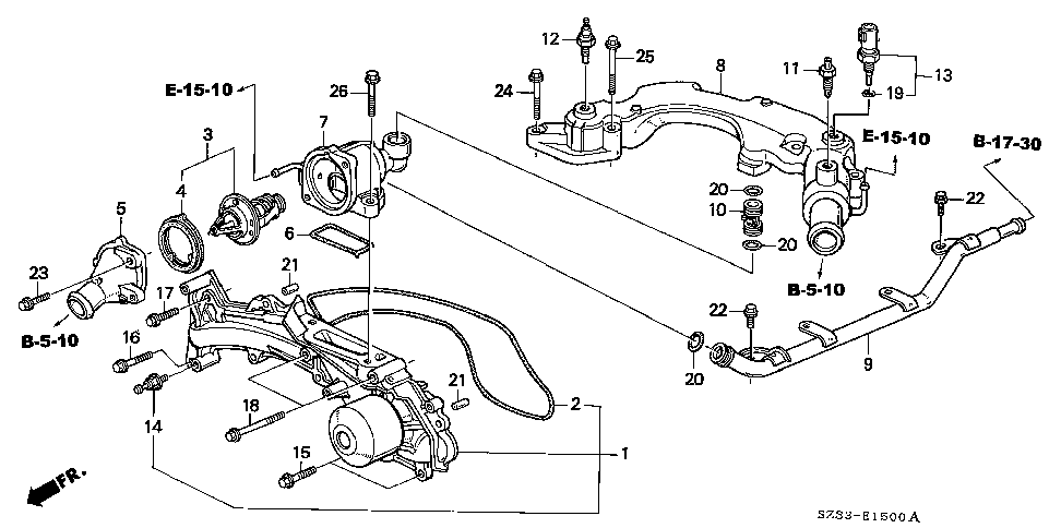 19320-P5A-000 - CASE, THERMOSTAT