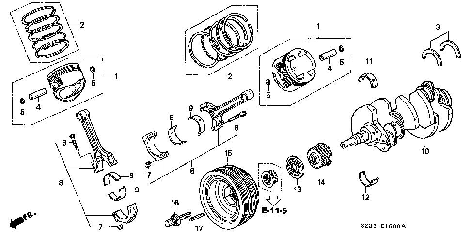 13621-P5A-000 - PULLEY, TIMING BELT DRIVE