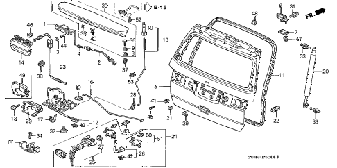 Honda online store : 2000 odyssey tailgate parts