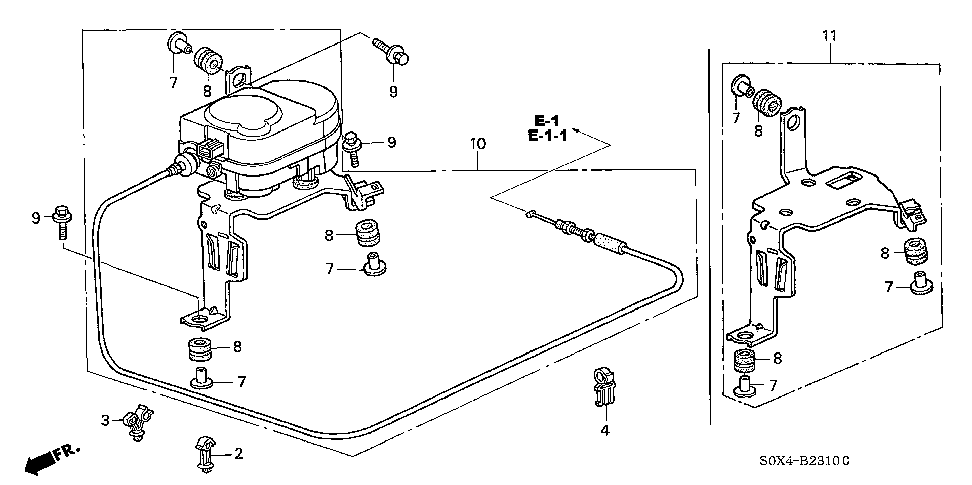 36613-P8F-A00 - STAY SUB-ASSY., ACTUATOR