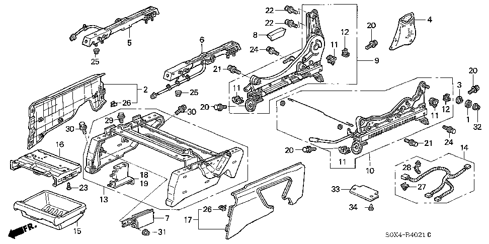 81396-S0X-A01 - GUIDE, BOX (LOWER)