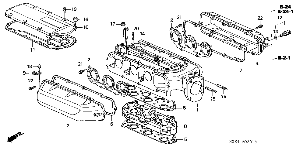 17105-P8E-A01 - GASKET, IN. MANIFOLD