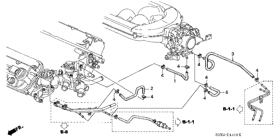 19653-P8F-A00 - HOSE A, IN. HEATER INLET