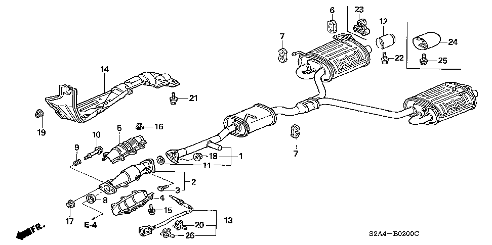 18215-S2A-000 - RUBBER, EX. MOUNTING