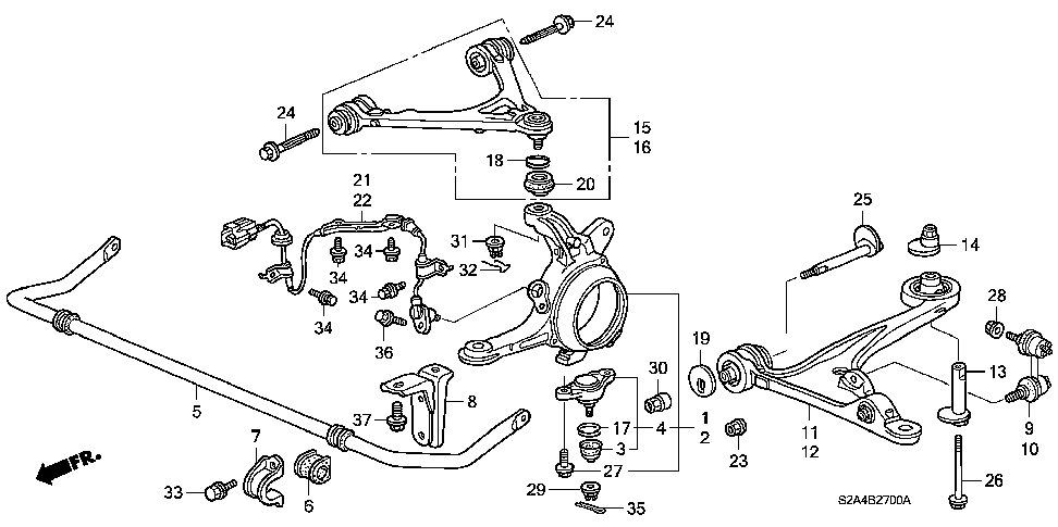 51230-S2A-000 - JOINT ASSY., FR. BALL (LOWER)
