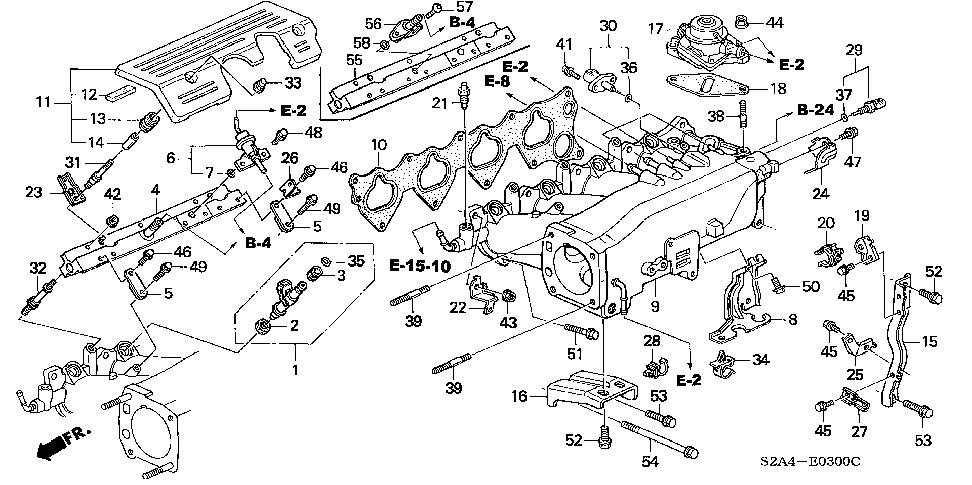 32117-PCX-000 - STAY F, ENGINE HARNESS