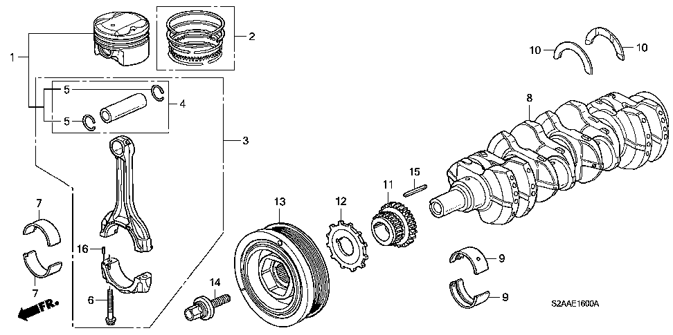 13211-PCX-013 - BEARING A, CONNECTING ROD (BLUE) (DAIDO)