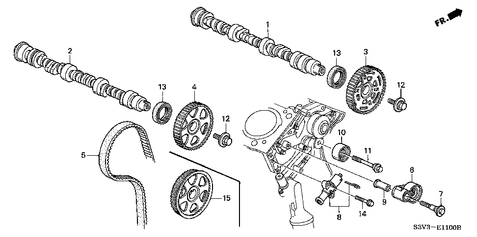 14520-RCA-A01 - TENSIONER, TIMING BELT AUTO