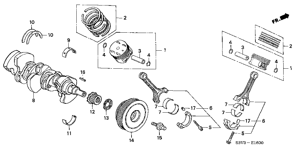 13621-RCA-A11 - PULLEY, TIMING BELT DRIVE