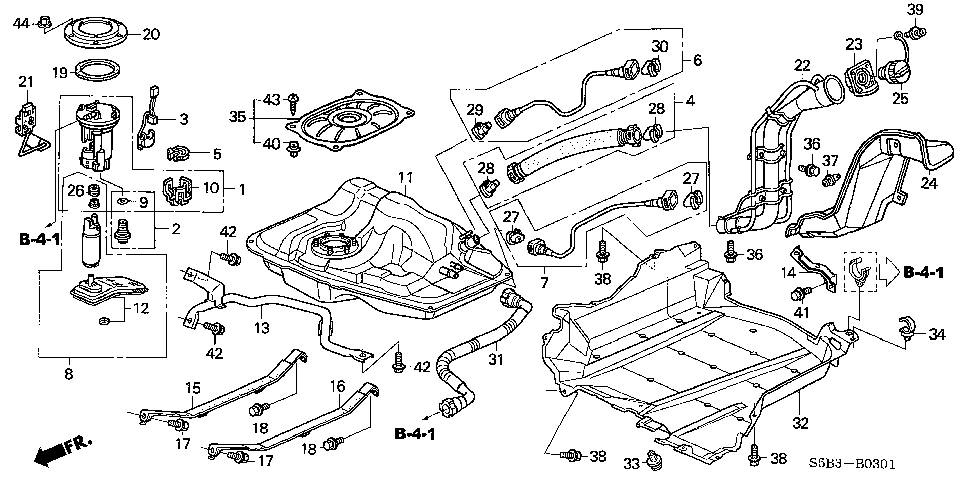 17521-S5B-L01 - BAND, R. FUEL TANK MOUNTING