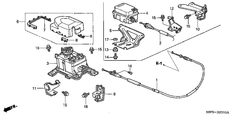 36613-PLR-A00 - BRACKET, ACTUATOR