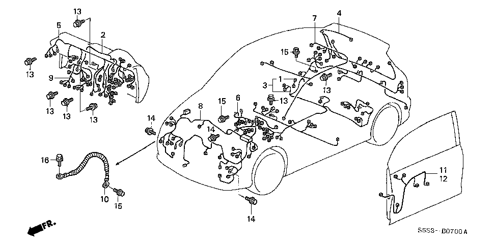 32117-S5T-A02 - WIRE HARNESS, INSTRUMENT