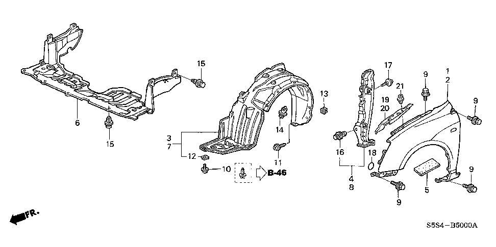 91512-SD2-003 - CLIP, HEADLIGHT GARNISH