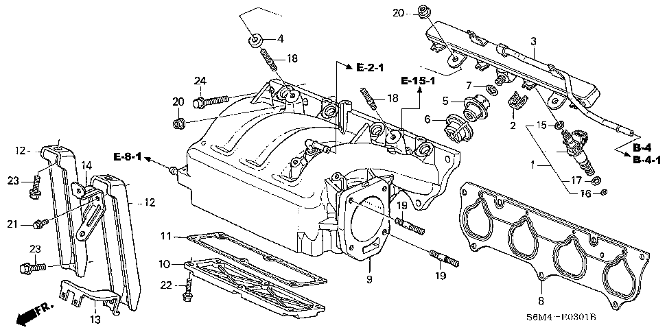 17102-PRB-A01 - GASKET, IN. MANIFOLD COVER