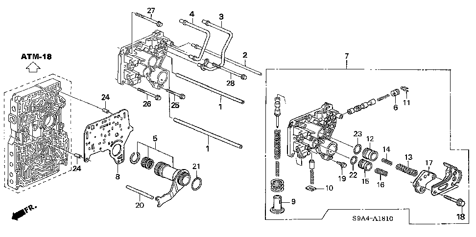 27591-RFK-900 - COVER, REGULATOR ACCUMULATOR