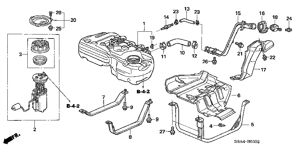 17522-S9A-A00 - BAND, L. FUEL TANK MOUNTING