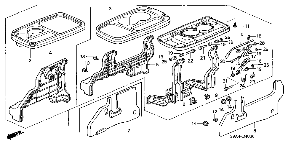 81173-S9A-J01 - LEVER, R.