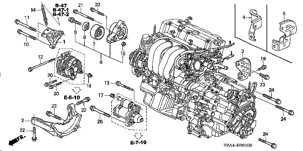 18121-PNB-000 - COVER, EX. MANIFOLD SIDE