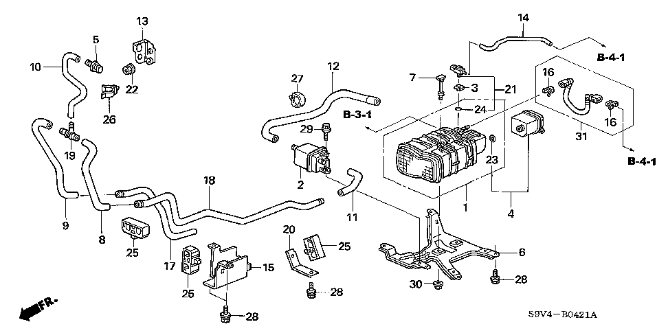 17578-S9V-A00 - COVER, DRAIN PIPE