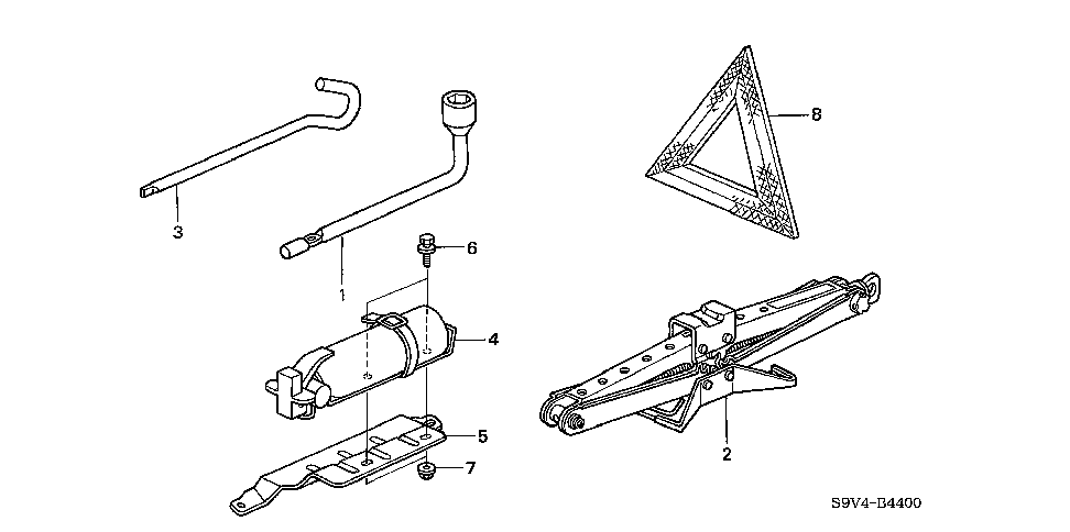 89211-S3V-A11 - WRENCH, WHEEL