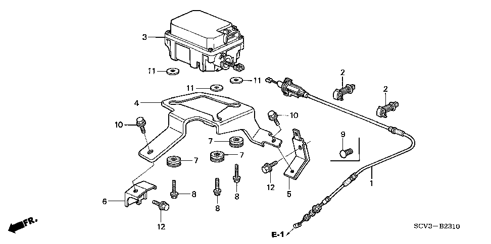 36613-PZD-A00 - STAY, ACTUATOR