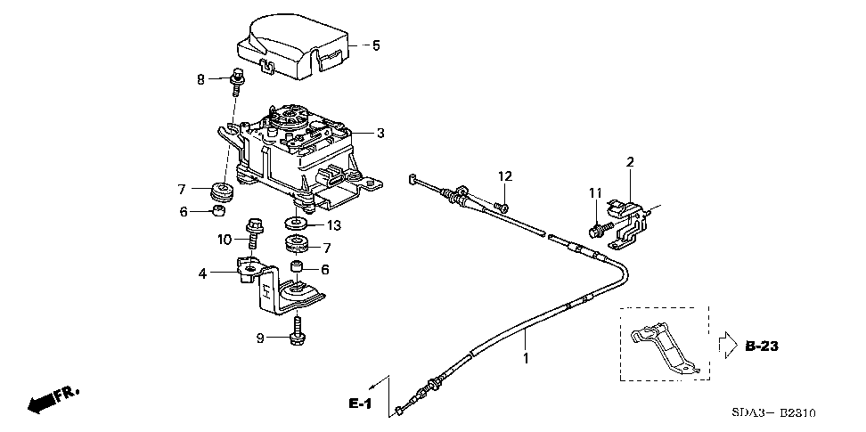 36614-RAA-A00 - STAY, ACTUATOR