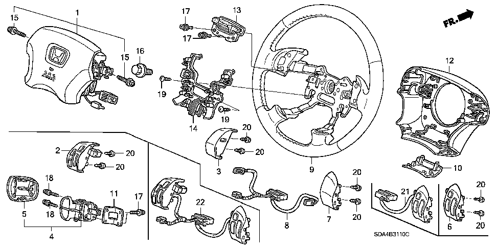 77901-SDA-A20 - SUB-WIRE, CABLE REEL
