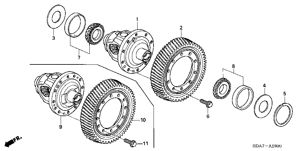 41100-RKE-000 - DIFFERENTIAL ASSY.