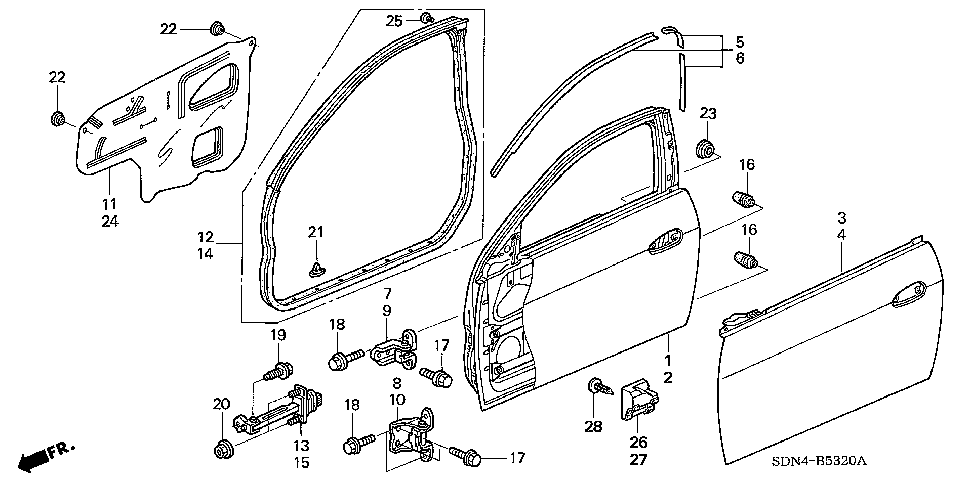 72361-SDN-A00 - SEAL, L. FR. DOOR HOLE