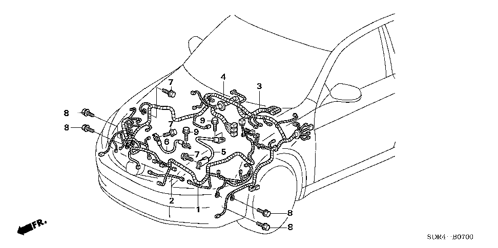 32120-SDR-A01 - WIRE HARNESS, CABIN
