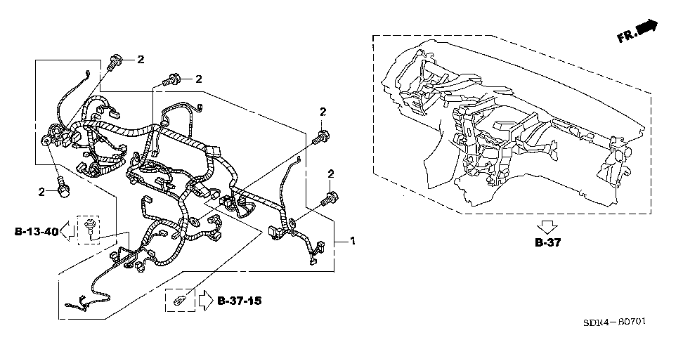 32117-SDR-A11 - WIRE HARNESS, INSTRUMENT