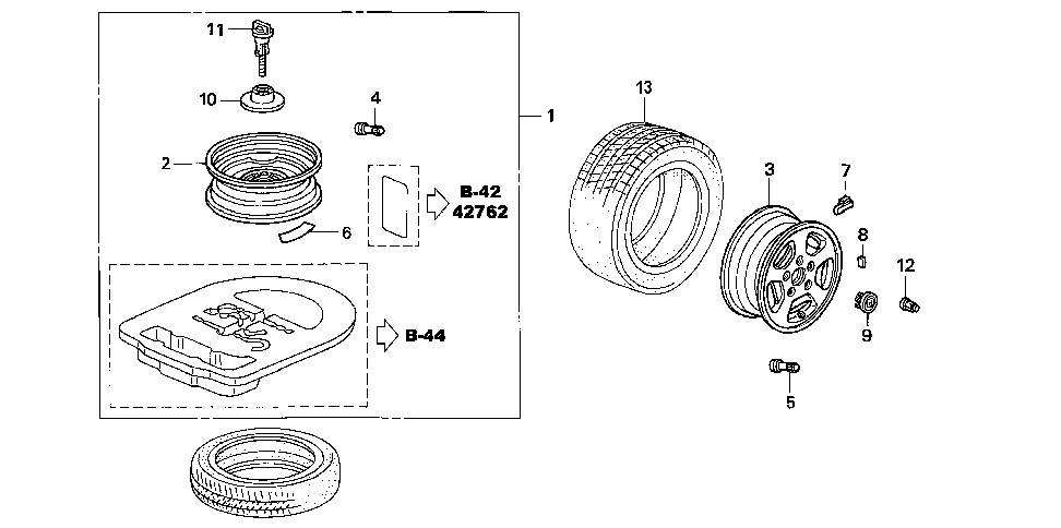 06421-SDR-A01 - WHEEL KIT, TEMPORARY