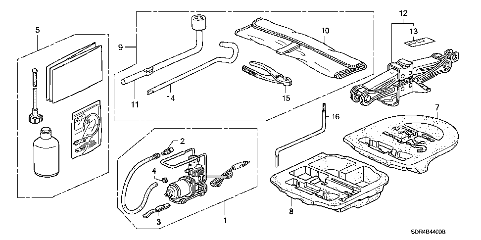 84541-SDR-A21 - SPACER, TRUNK FLOOR