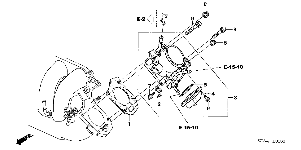 16176-RAA-A01 - GASKET, THROTTLE BODY