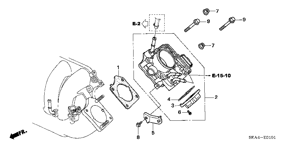 16176-RBB-A01 - GASKET, THROTTLE BODY