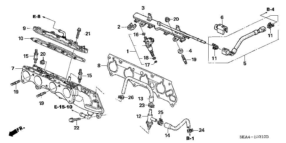 17105-RAA-A01 - GASKET, INJECTOR BASE