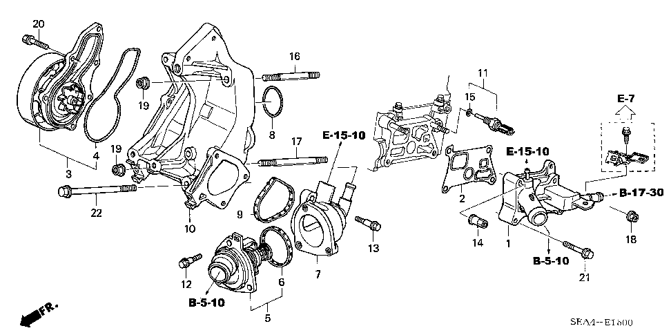 19320-RAA-A02 - CASE, THERMOSTAT (NIPPON THERMOSTAT)