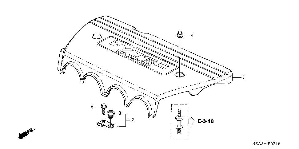 17123-RAA-A00 - STAY ASSY. A, ENGINE COVER