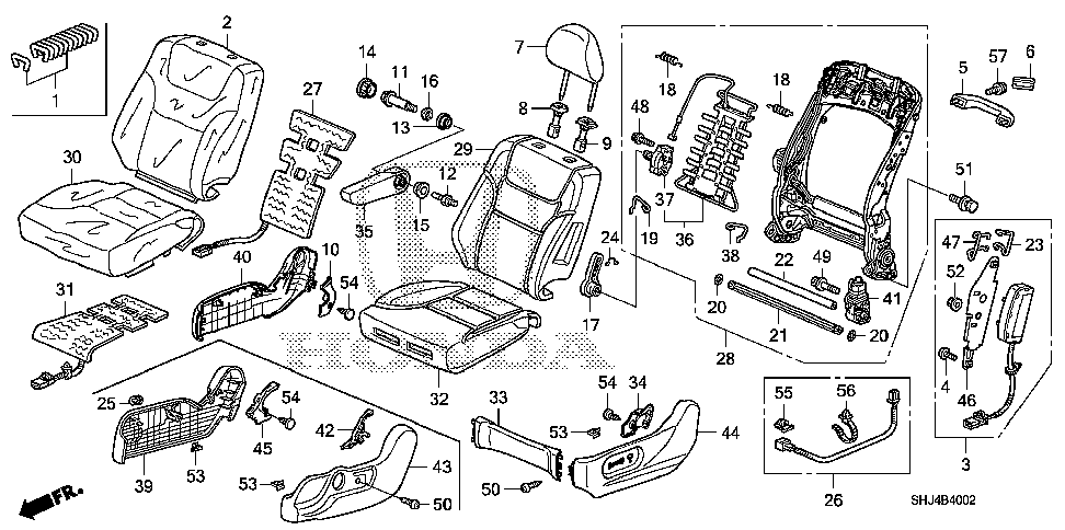 81286-SHJ-A01 - WIRE B, FR. SEAT-BACK AIRBAG