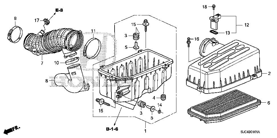 17220-RJE-A10 - ELEMENT ASSY., AIR CLEANER