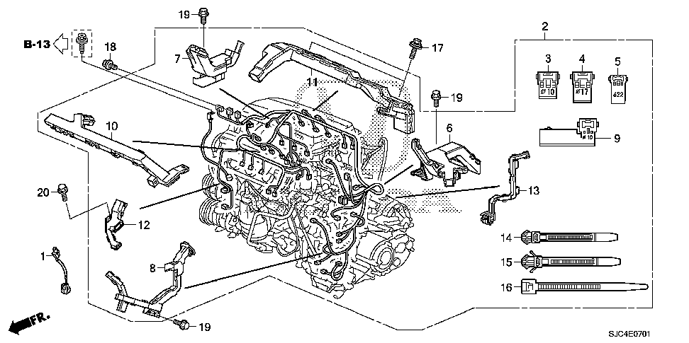 32110-RJE-A70 - WIRE HARNESS, ENGINE