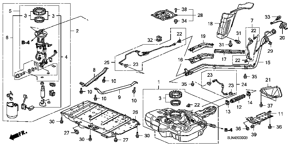 17522-SLN-A00 - PIPE, FUEL TANK MOUNTING