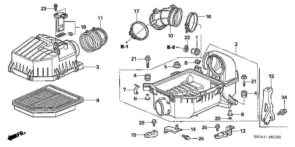 17211-RNA-A00 - COVER, AIR CLEANER