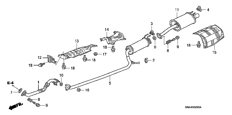 18215-SNA-A11 - RUBBER, EX. MOUNTING