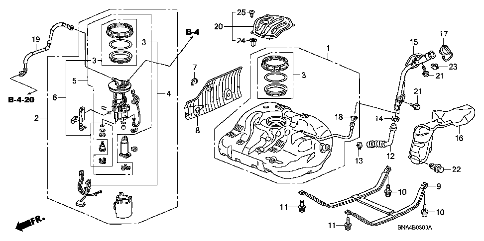 17520-SNA-000 - BAND, FUEL TANK MOUNTING