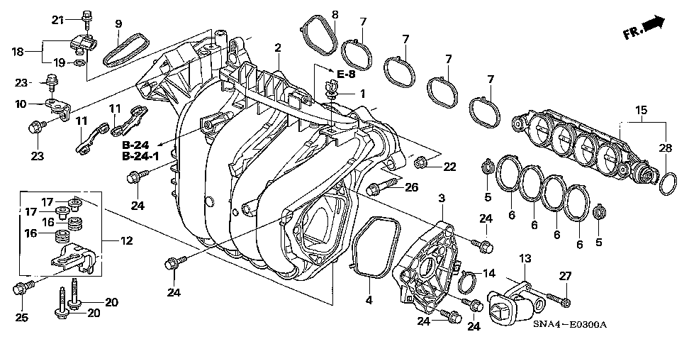 17105-RNA-A01 - GASKET A, IN. MANIFOLD