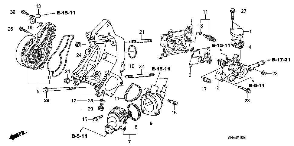 19222-RBC-003 - GASKET, WATER PUMP